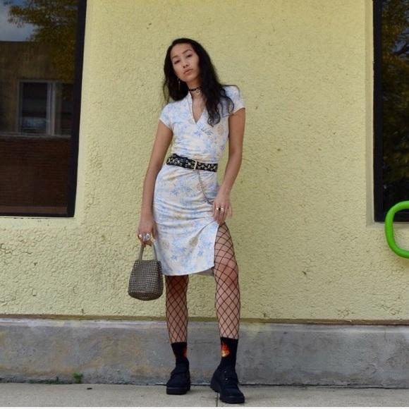 Vintage Dresses & Skirts - FINALSALE🍒90'sVtg DEADSTOCK Cherryblossom Dress